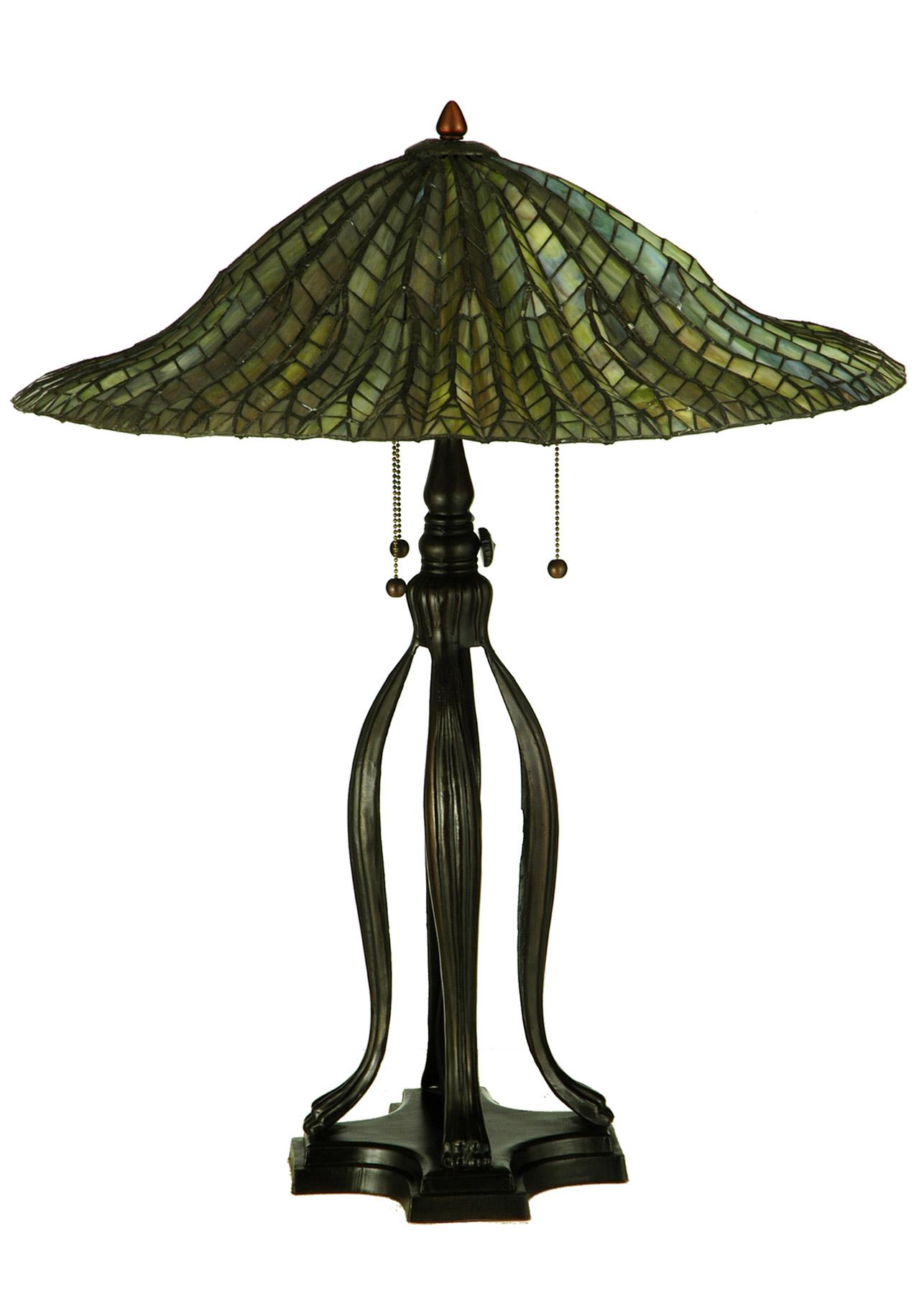Meyda 29385 Tiffany Lotus Leaf Table Lamp