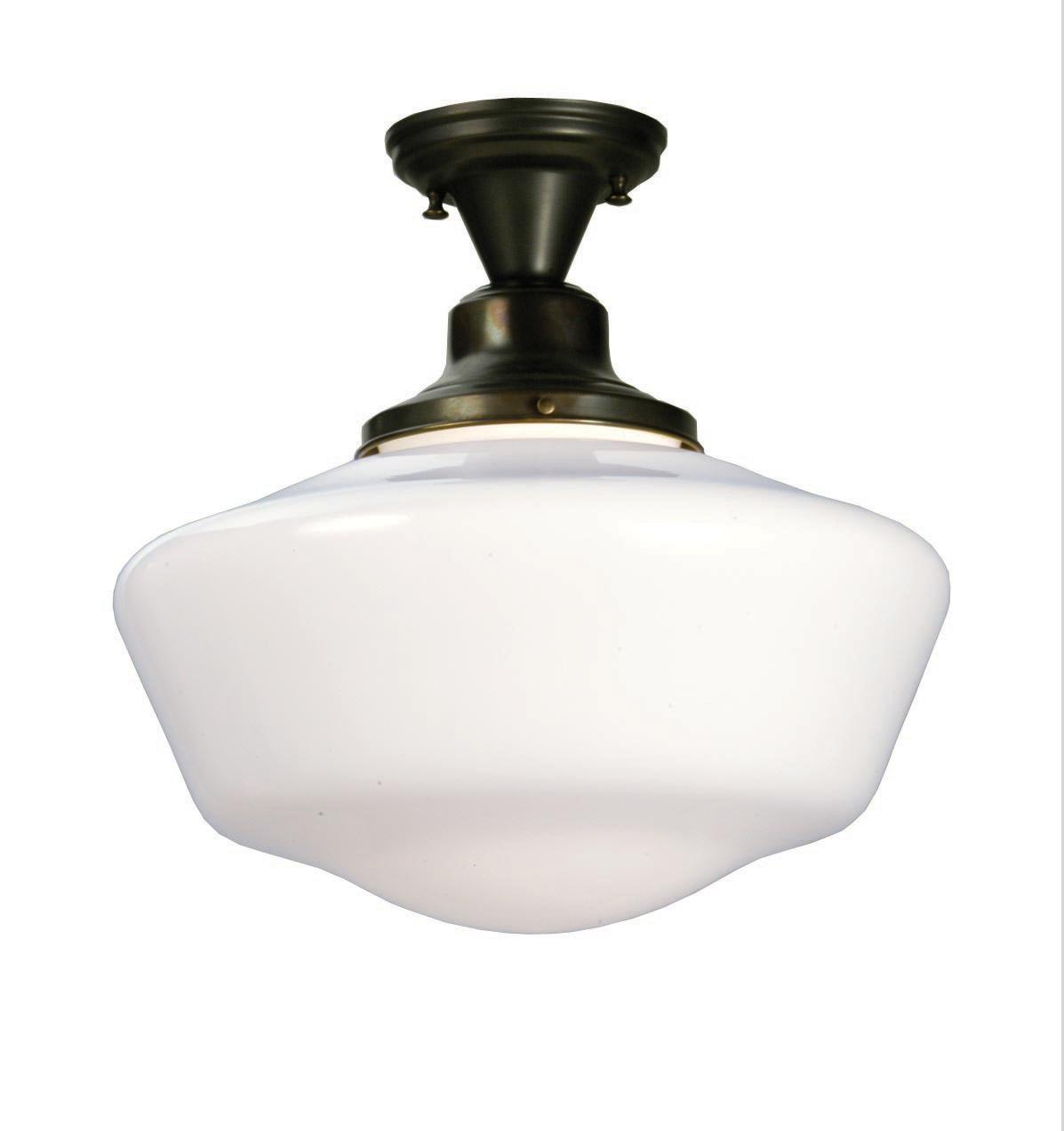 Meyda 30268 Schoolhouse W Globe Semi Flush Ceiling Fixture