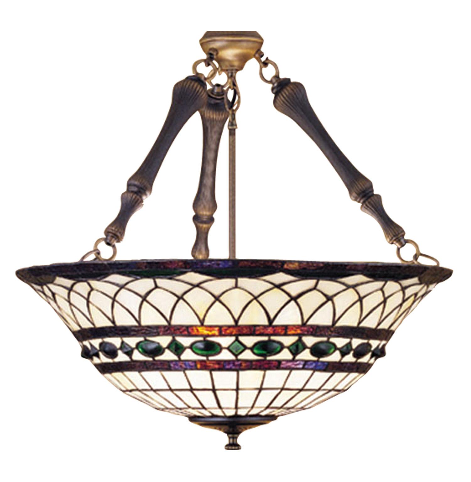 Meyda 30468 Tiffany Roman Inverted Hanging Lamp