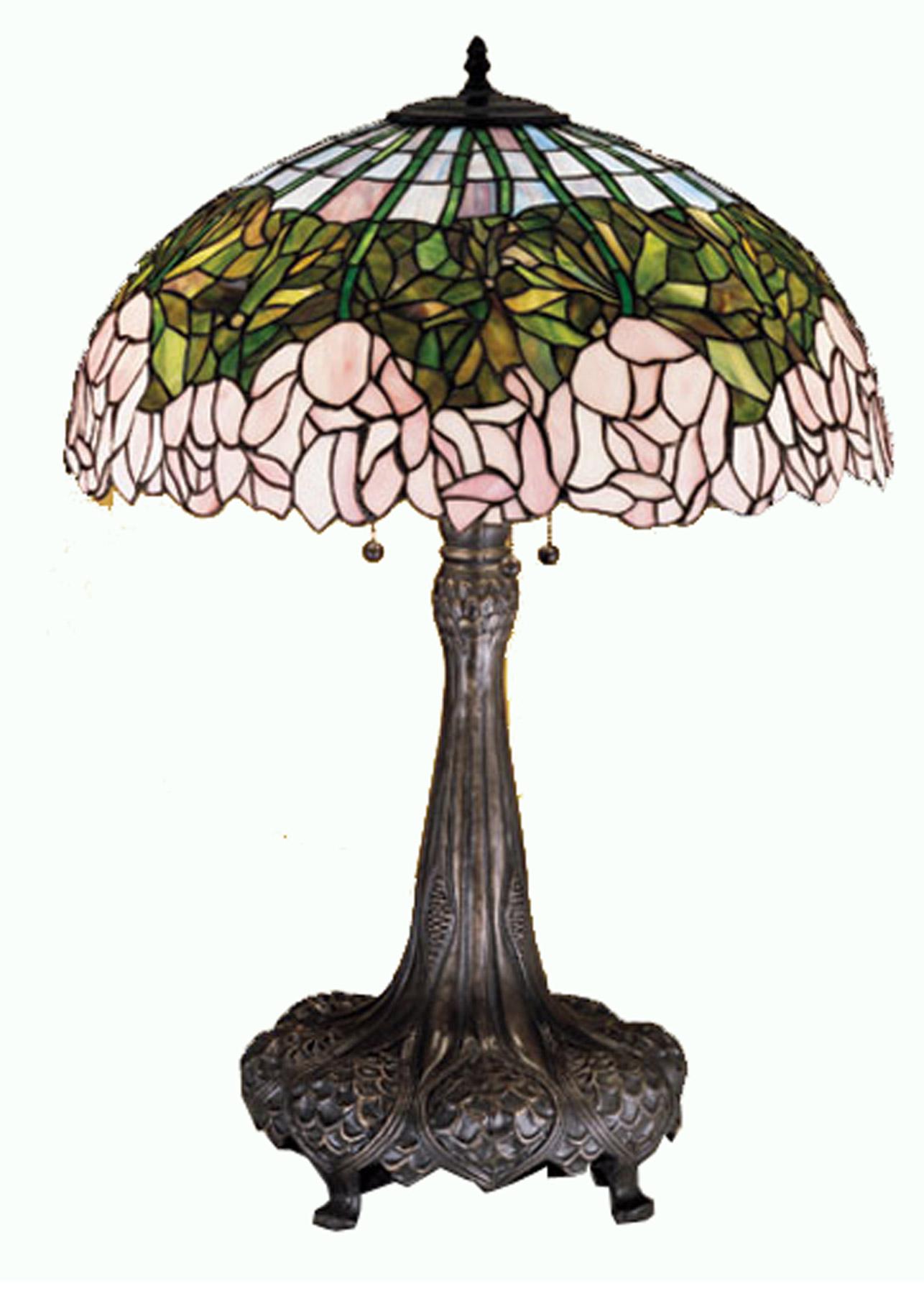 Meyda 30513 Tiffany Cabbage Rose Large Table Lamp