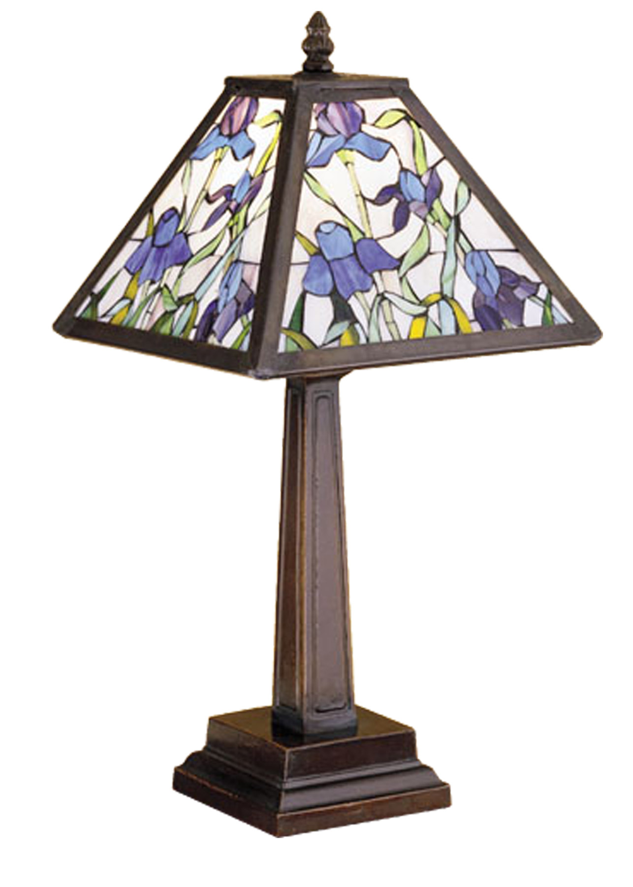 Meyda 30886 Tiffany Iris Accent Lamp