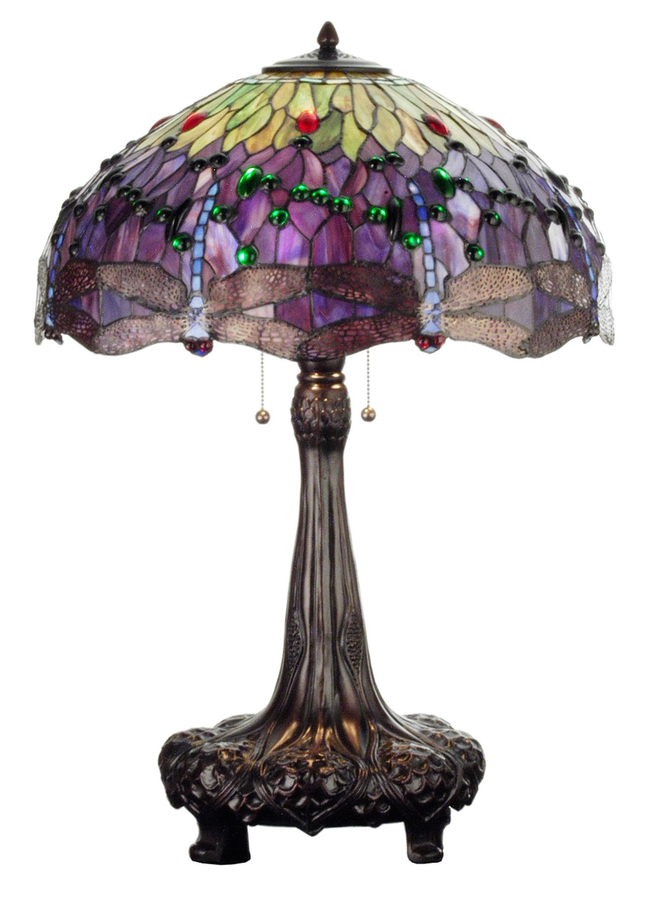 Meyda 31112 Tiffany Hanginghead Dragonfly Table Lamp