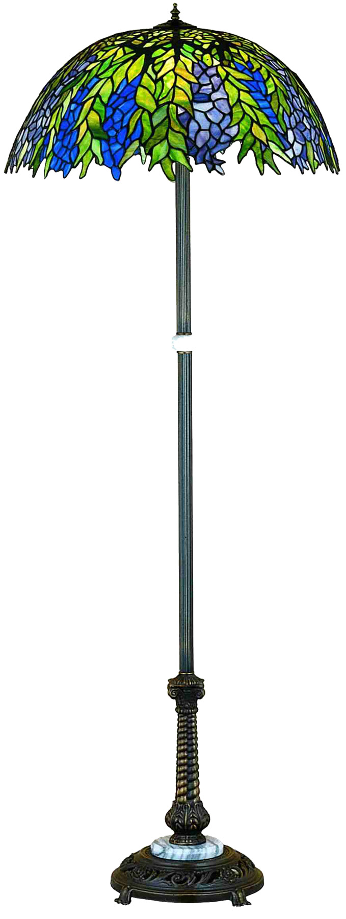 Meyda 31113 Tiffany Honey Locust Floor Lamp