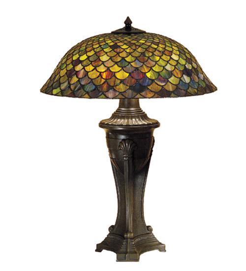 meyda 31115 tiffany fishscale table lamp. Black Bedroom Furniture Sets. Home Design Ideas
