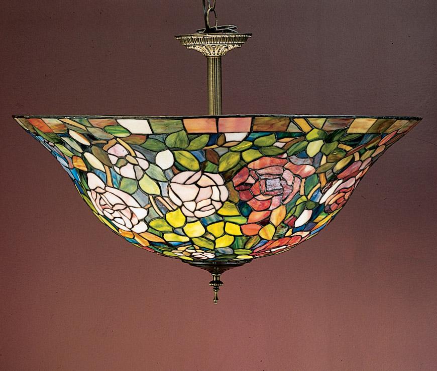 Meyda 31123 Tiffany Rosebush Semi Flush Ceiling Fixture