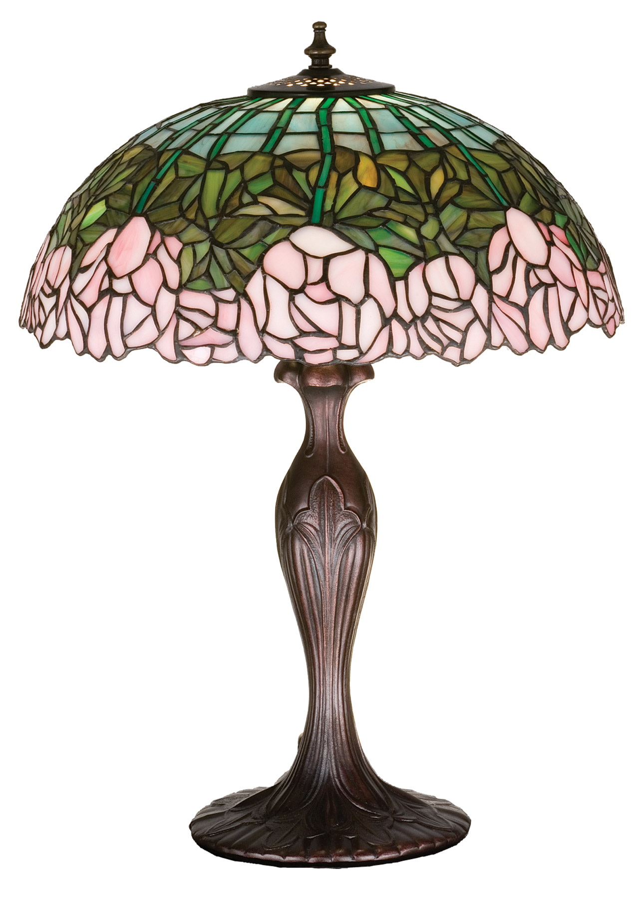 Meyda 31143 Tiffany Cabbage Rose Medium Table Lamp