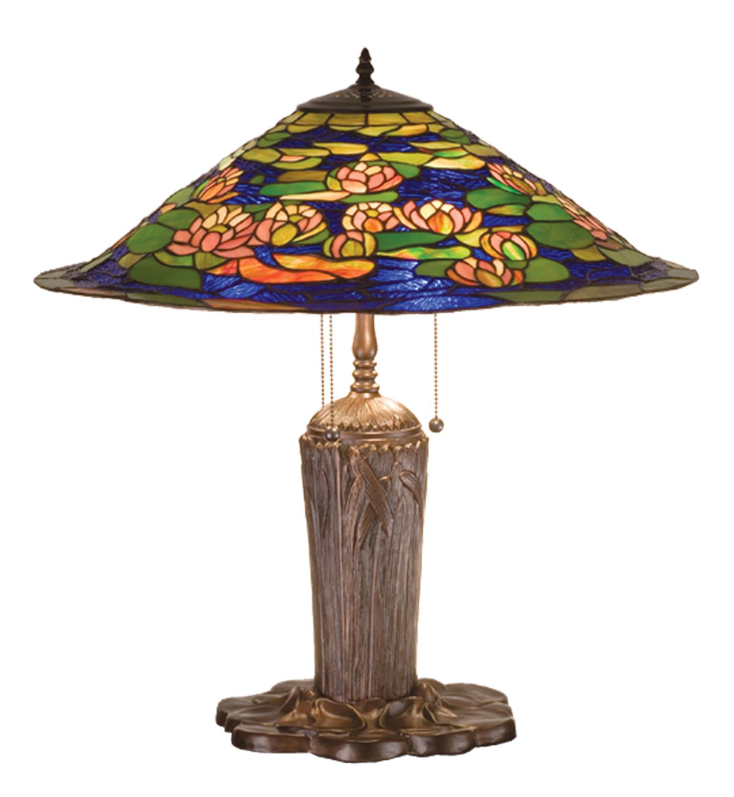 Meyda 32300 Tiffany Pond Lily Table Lamp