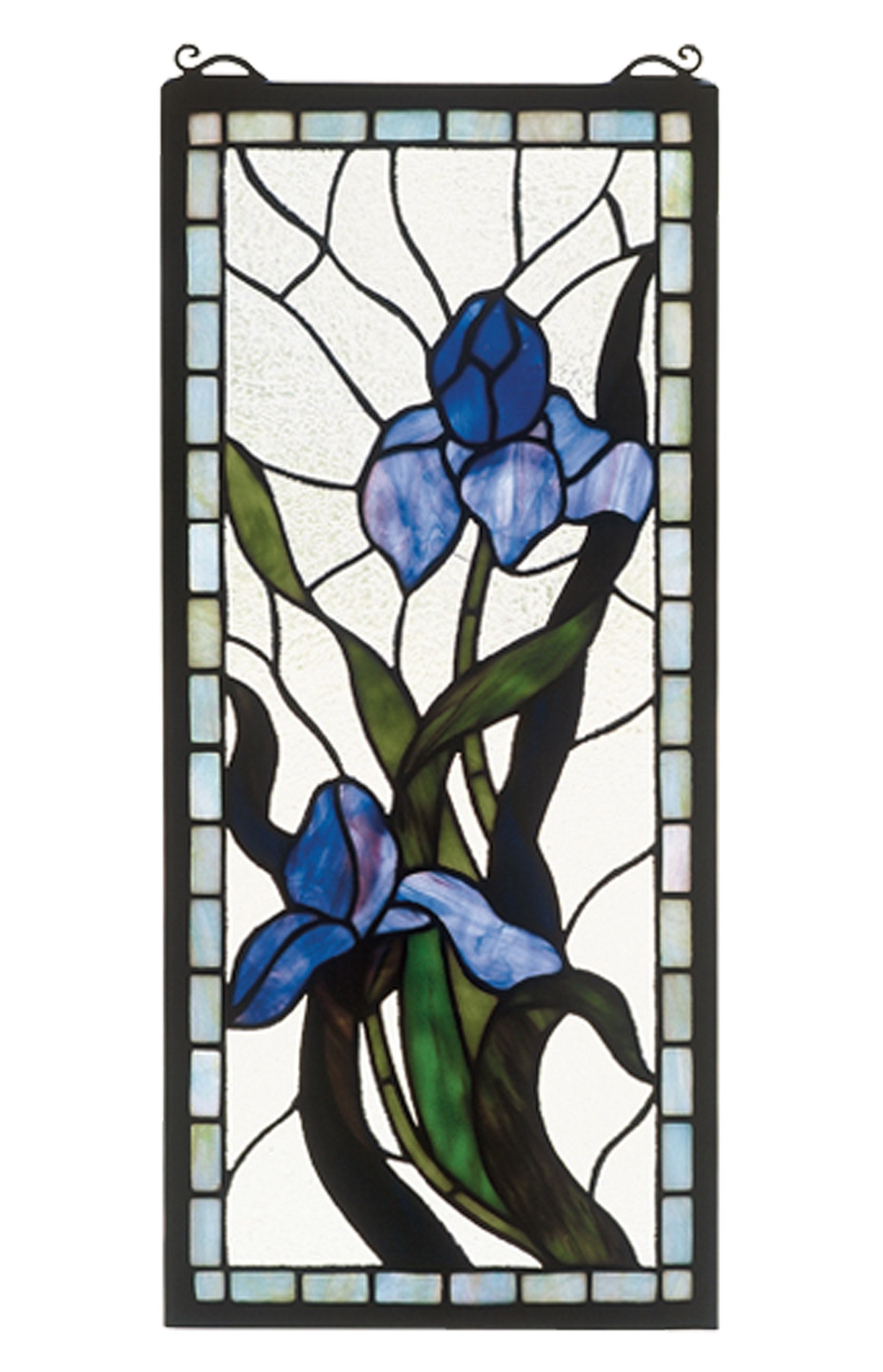 Meyda 36073 Tiffany Iris Stained Glass Window