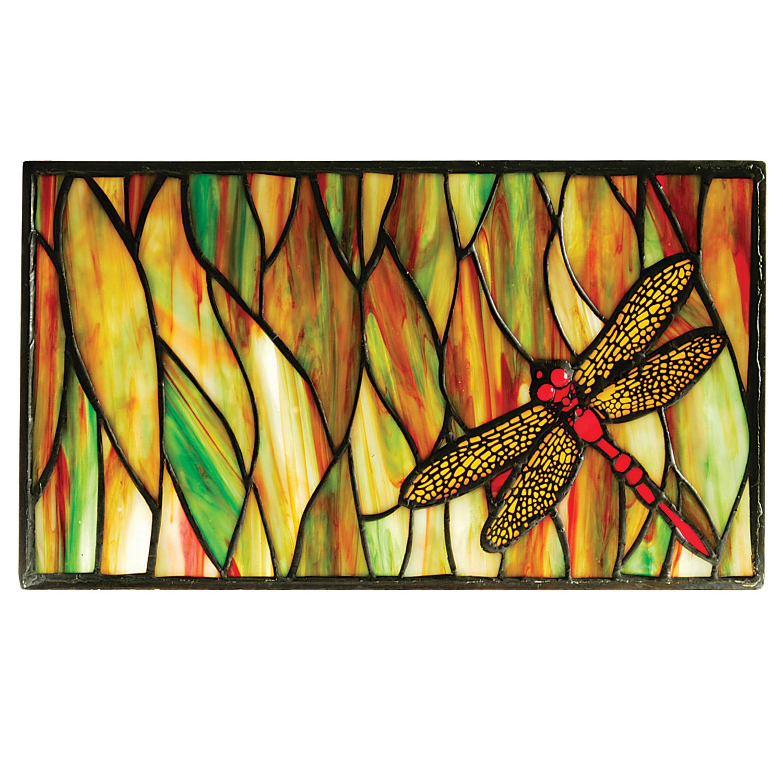 Meyda 37512 Tiffany Dragonfly Stained Glass Window