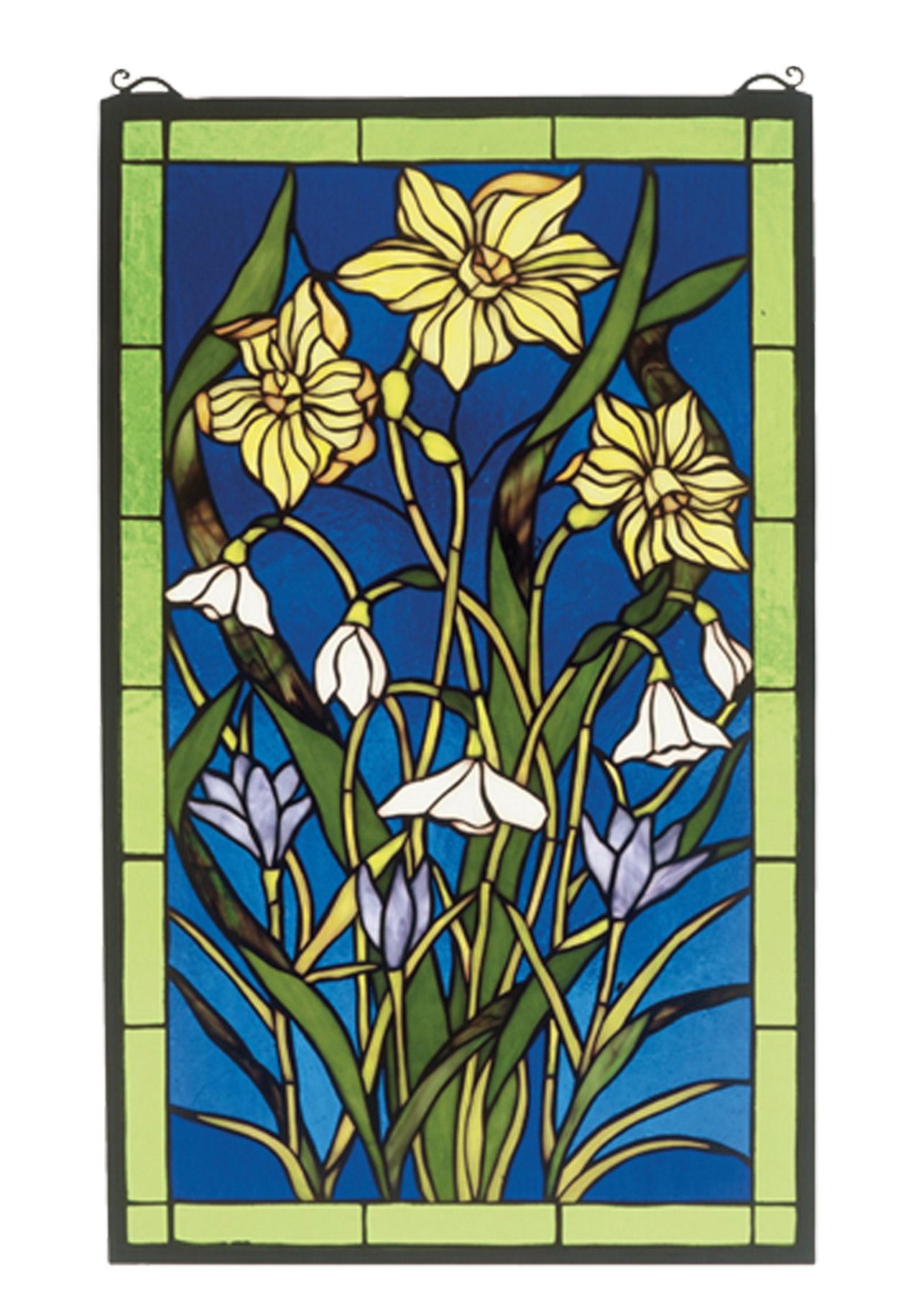 Meyda 38738 Tiffany Spring Bouquet Stained Glass Window