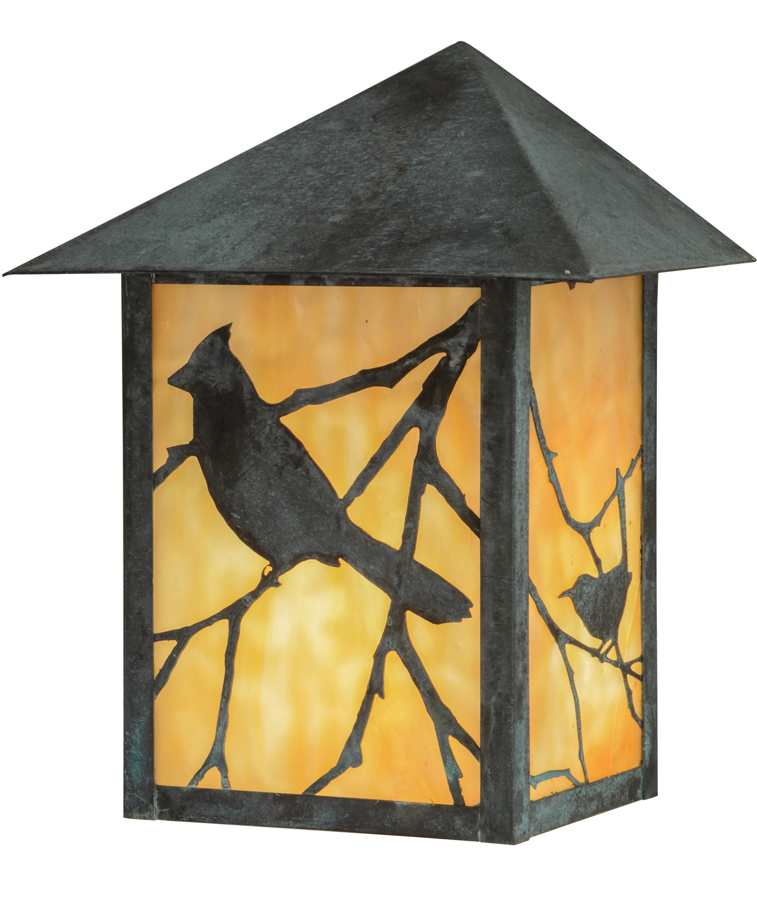 Wall Sconces With Birds : Meyda 41862 Seneca Song Bird Indoor/Outdoor Wall Sconce