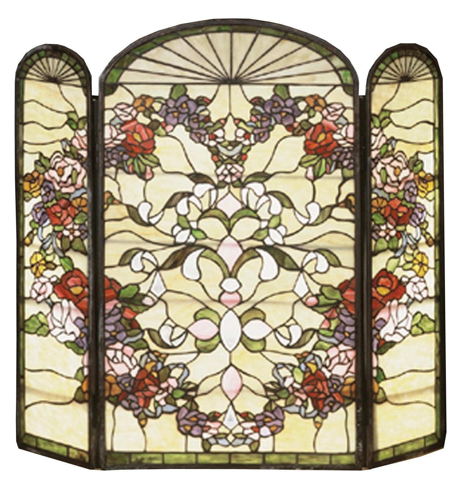 Meyda 47991 Tiffany Heart Folding Fireplace Screen