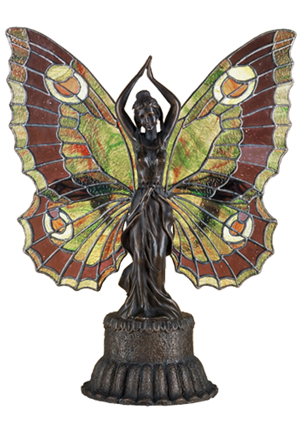 Meyda 48018 Tiffany Butterfly Lady Accent Lamp