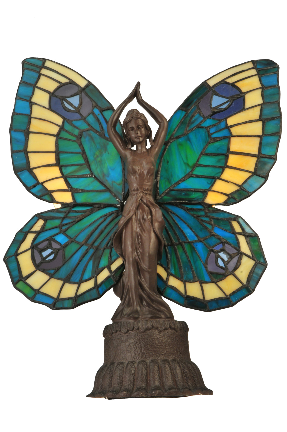 Meyda 48019 Tiffany Sculptured Butterfly Lady Accent Lamp