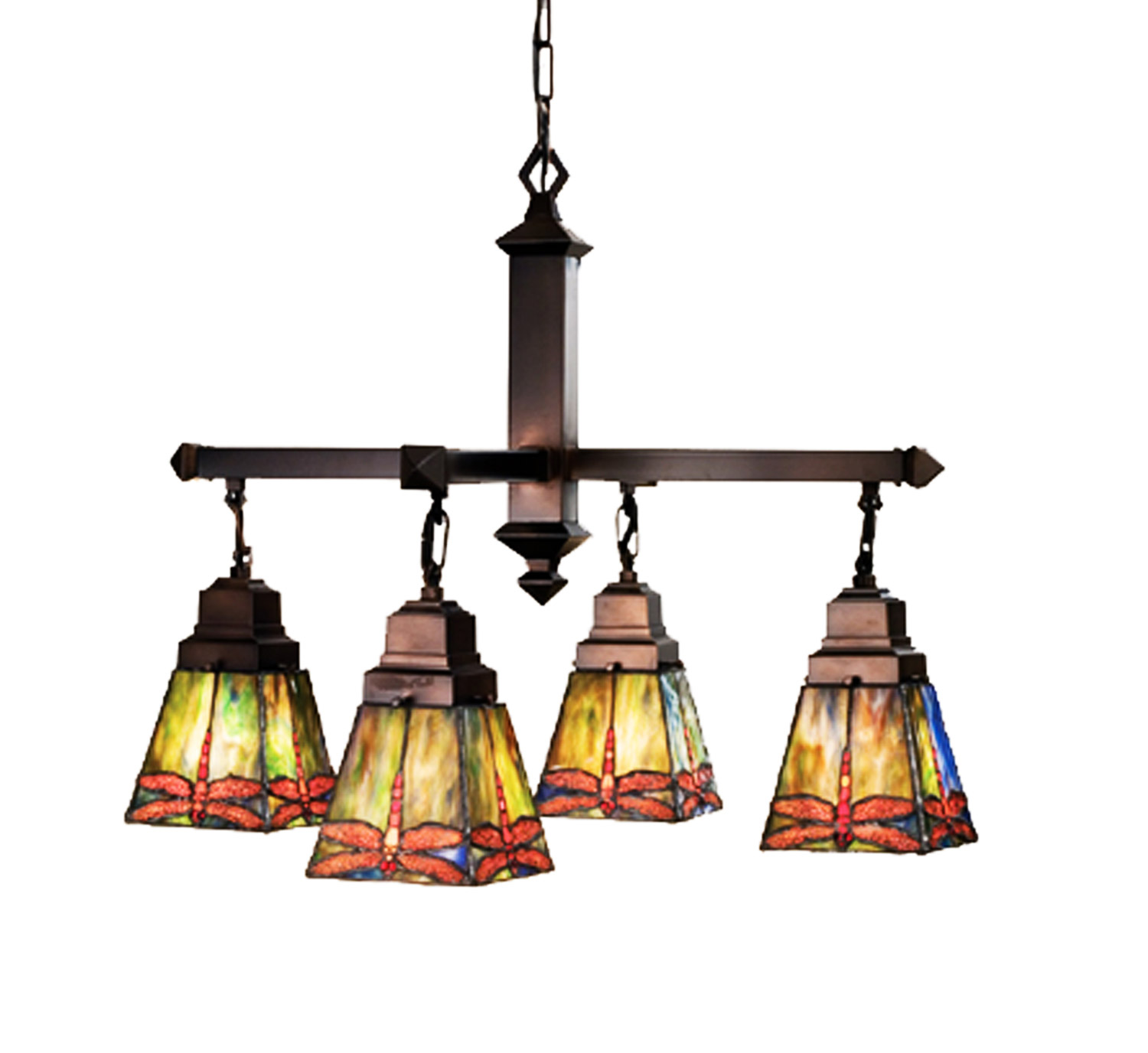 Meyda 48035 prairie dragonfly four light chandelier aloadofball Image collections