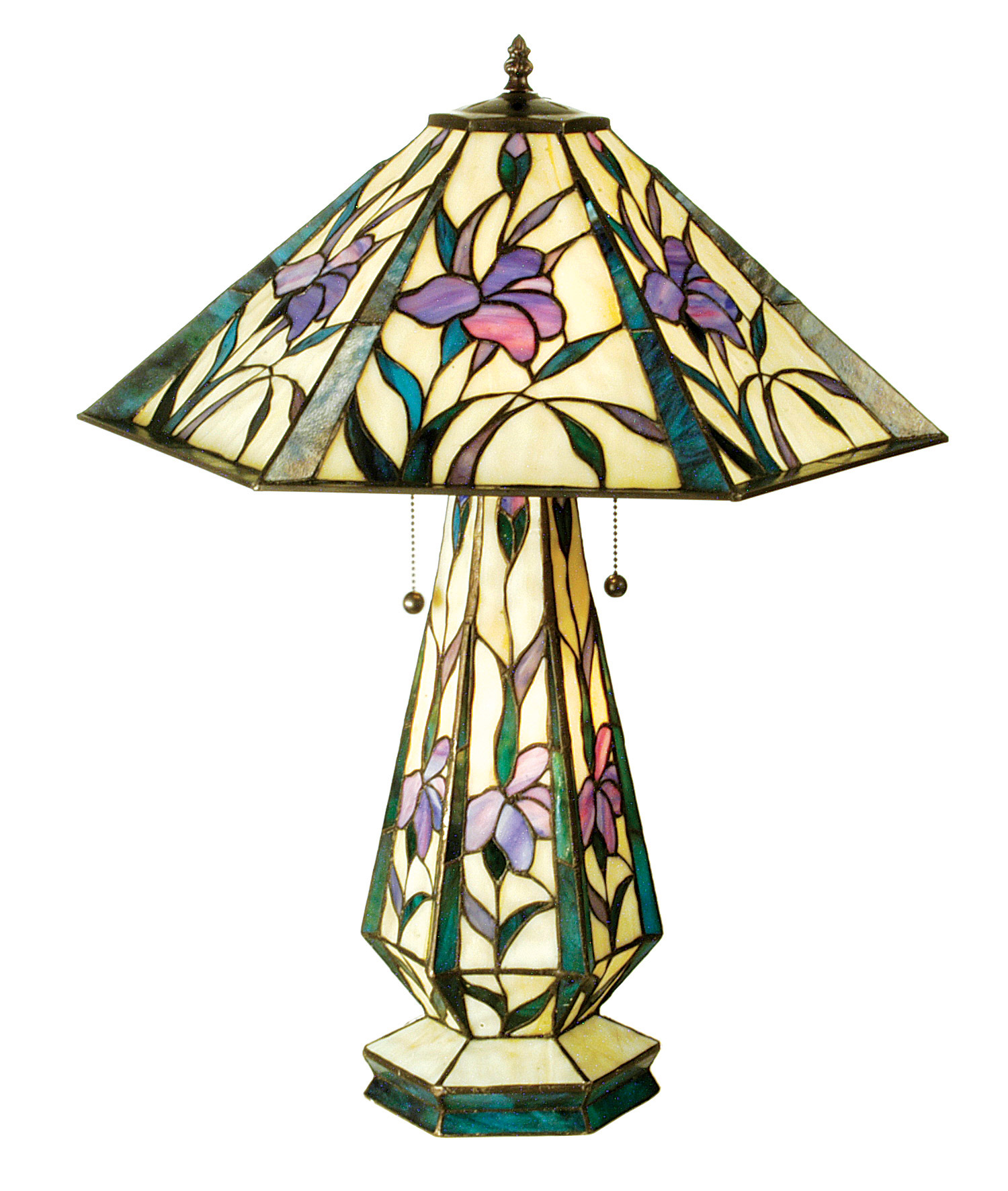 Meyda 50808 Tiffany Iris Table Lamp