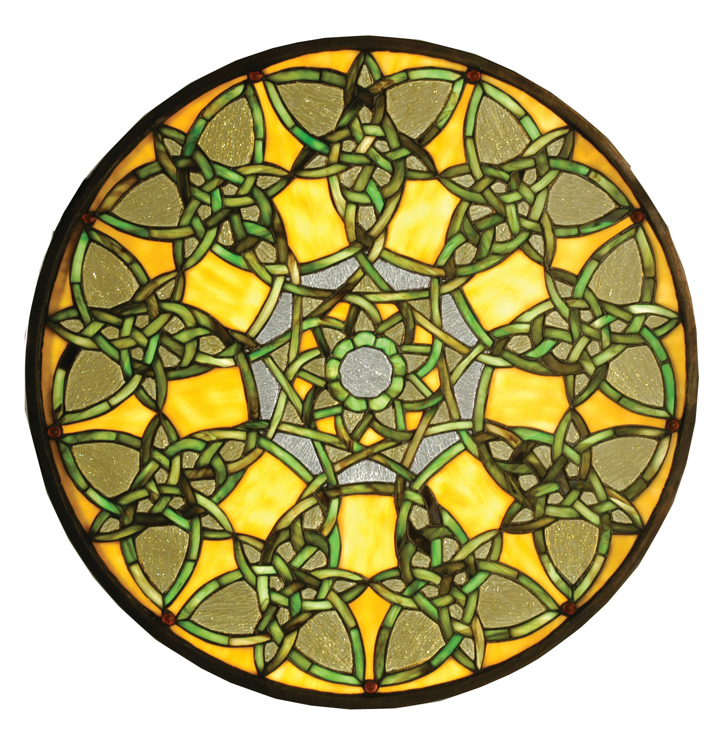 Meyda 51531 Tiffany Knotwork Trance Medallion Stained