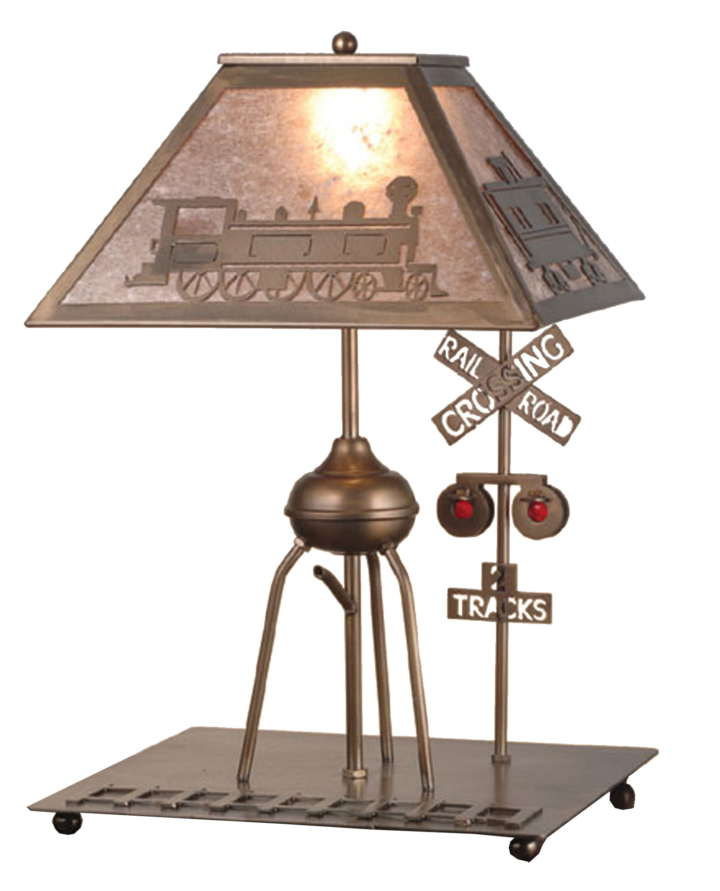 Meyda 51704 Railroad Train Table Lamp