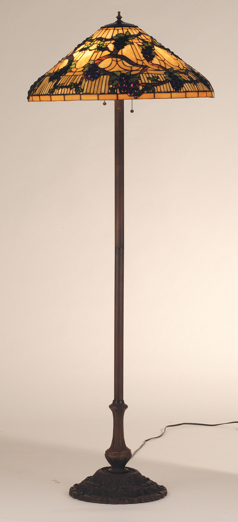 Meyda 55961 Tiffany Jeweled Grape Floor Lamp