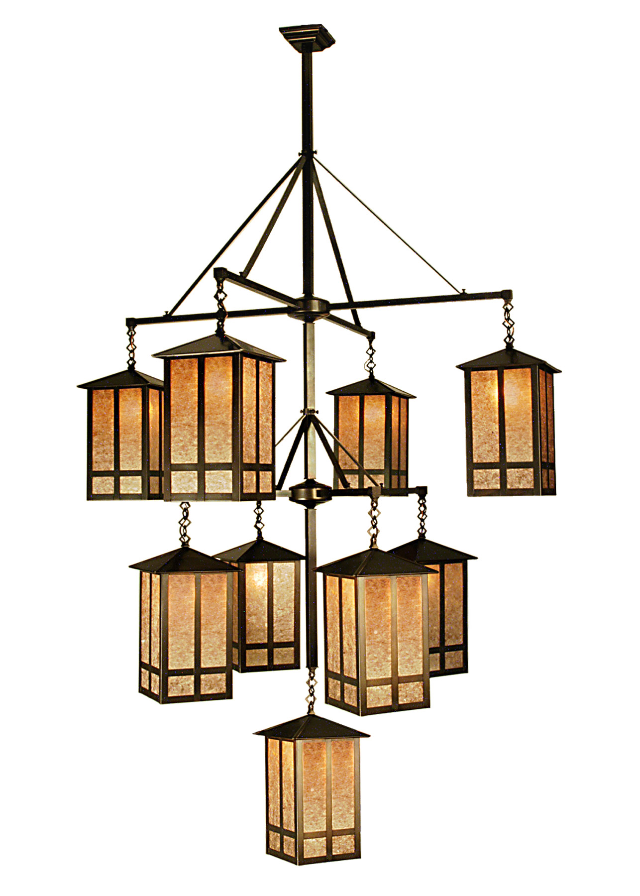 Church Street Nine Light Hanging Lantern Chandelier