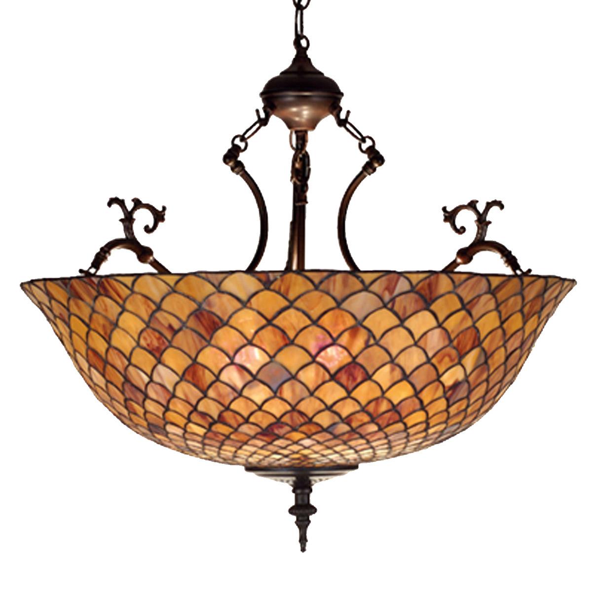 Meyda 67381 Tiffany Fishscale Inverted Hanging Lamp