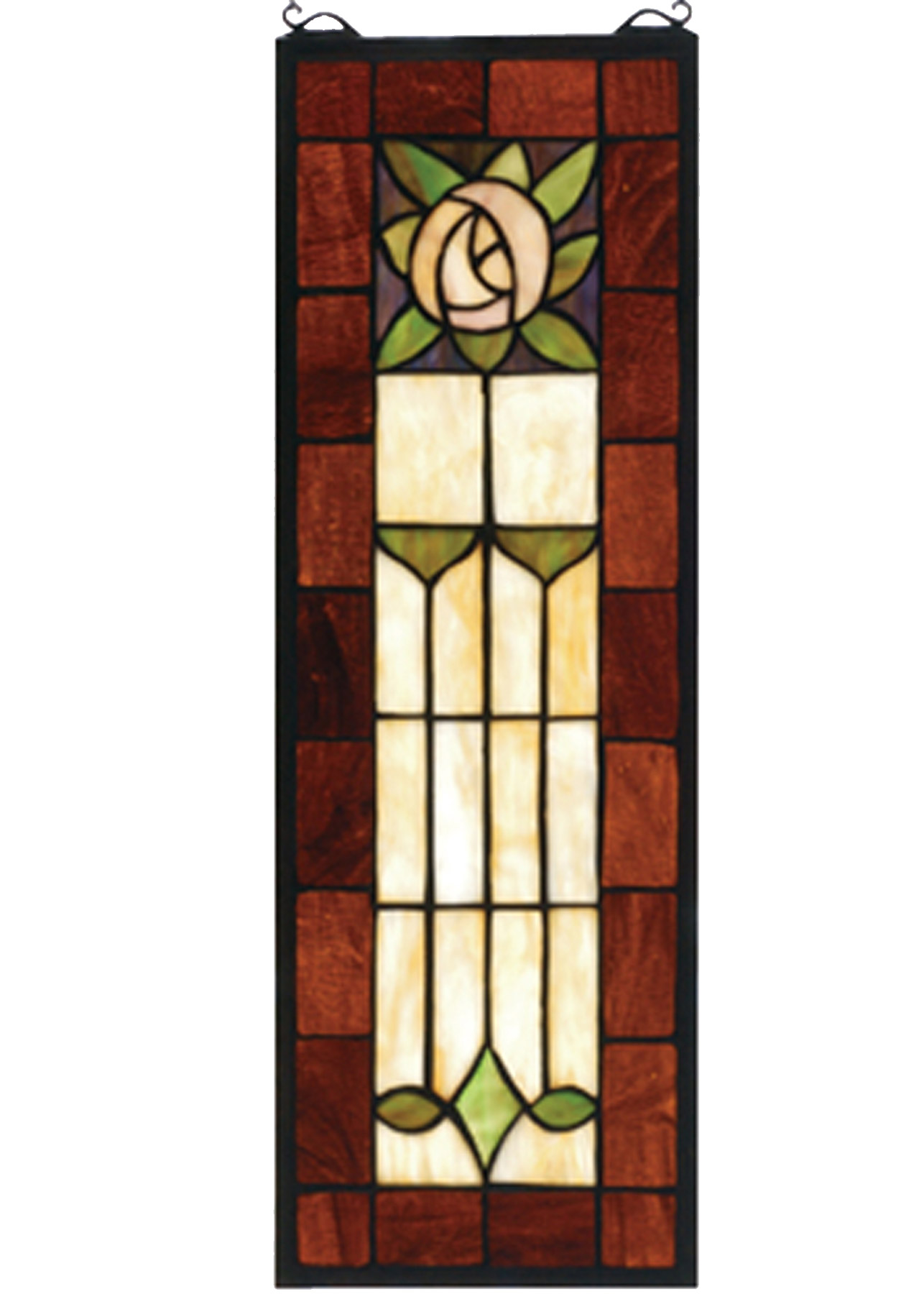 Meyda 67791 Pasadena Rose Stained Glass Window