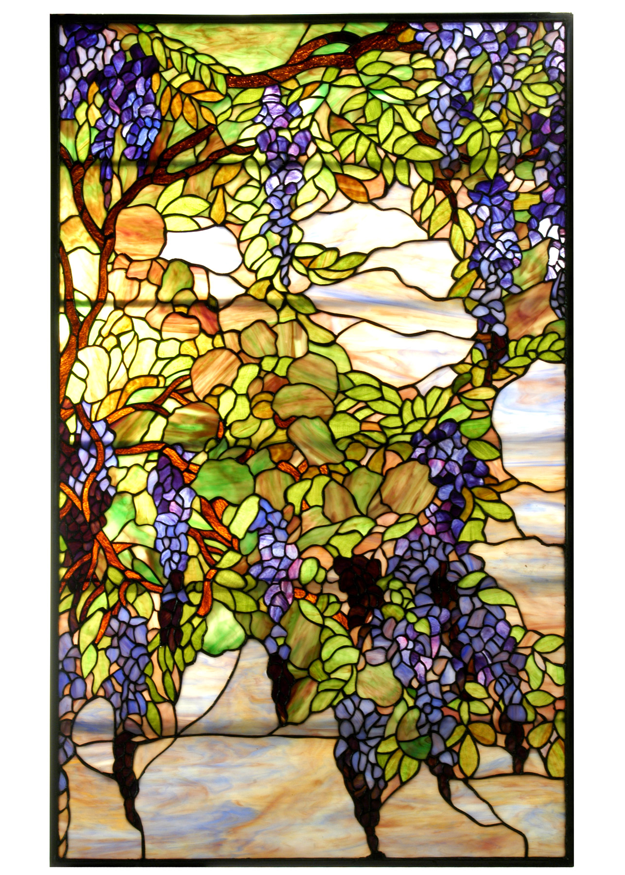 Meyda 68442 Tiffany Wisteria Amp Snowball Stained Glass Window