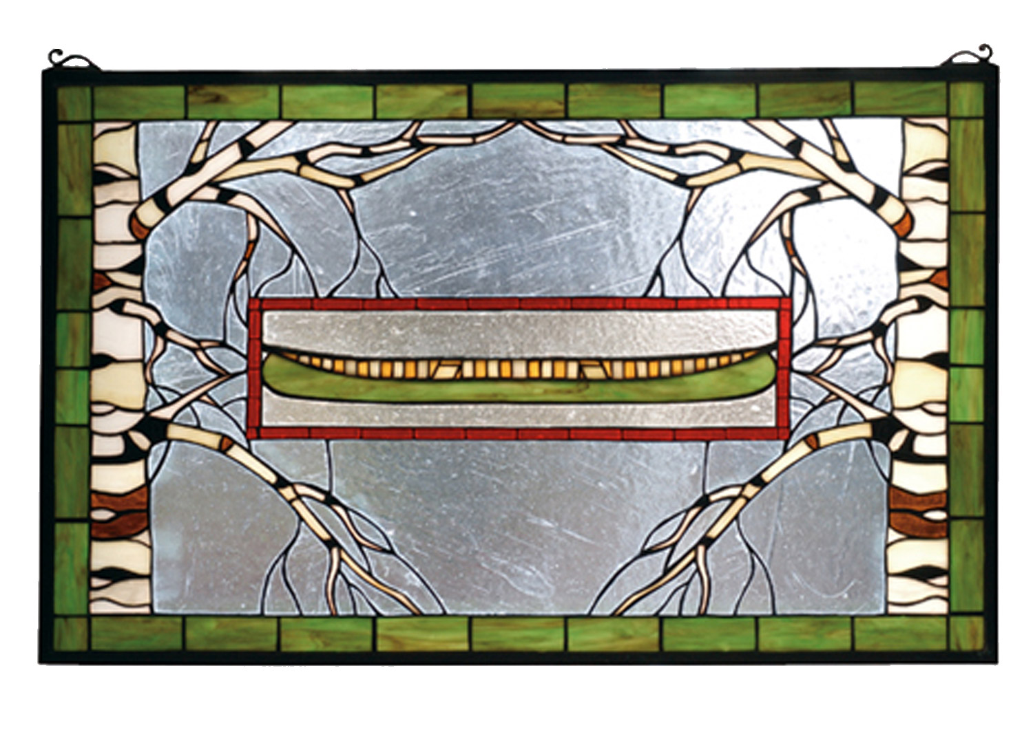 Meyda 70490 North Country Canoe Stained Glass Window