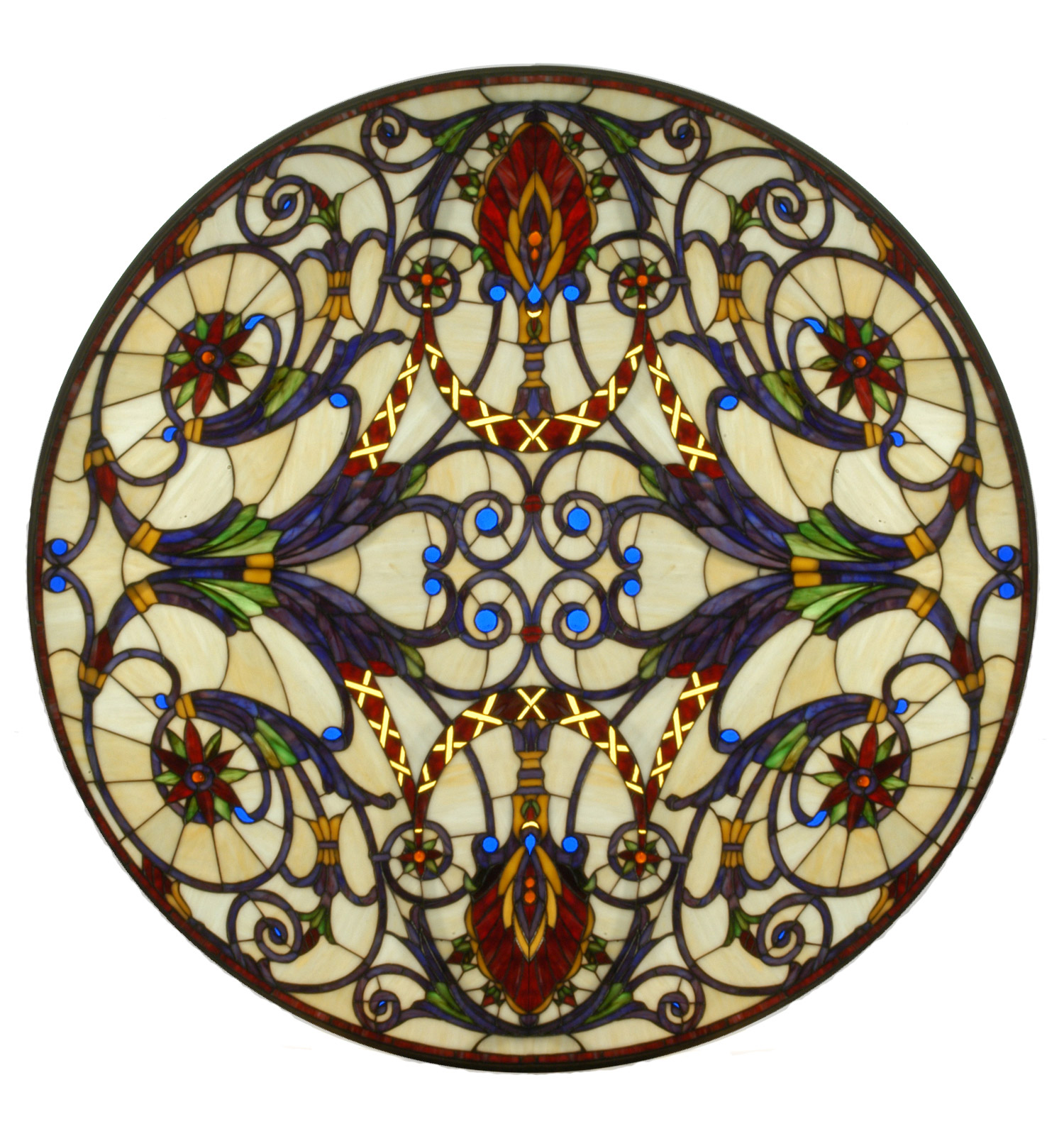 s j charles cp glass inspired image medium by stained window connick handle medallion