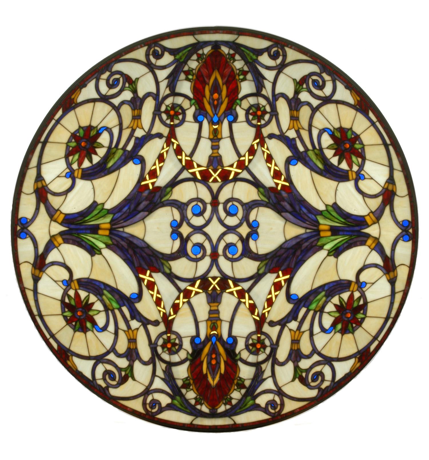 Glass Window Round Stained Glass Window