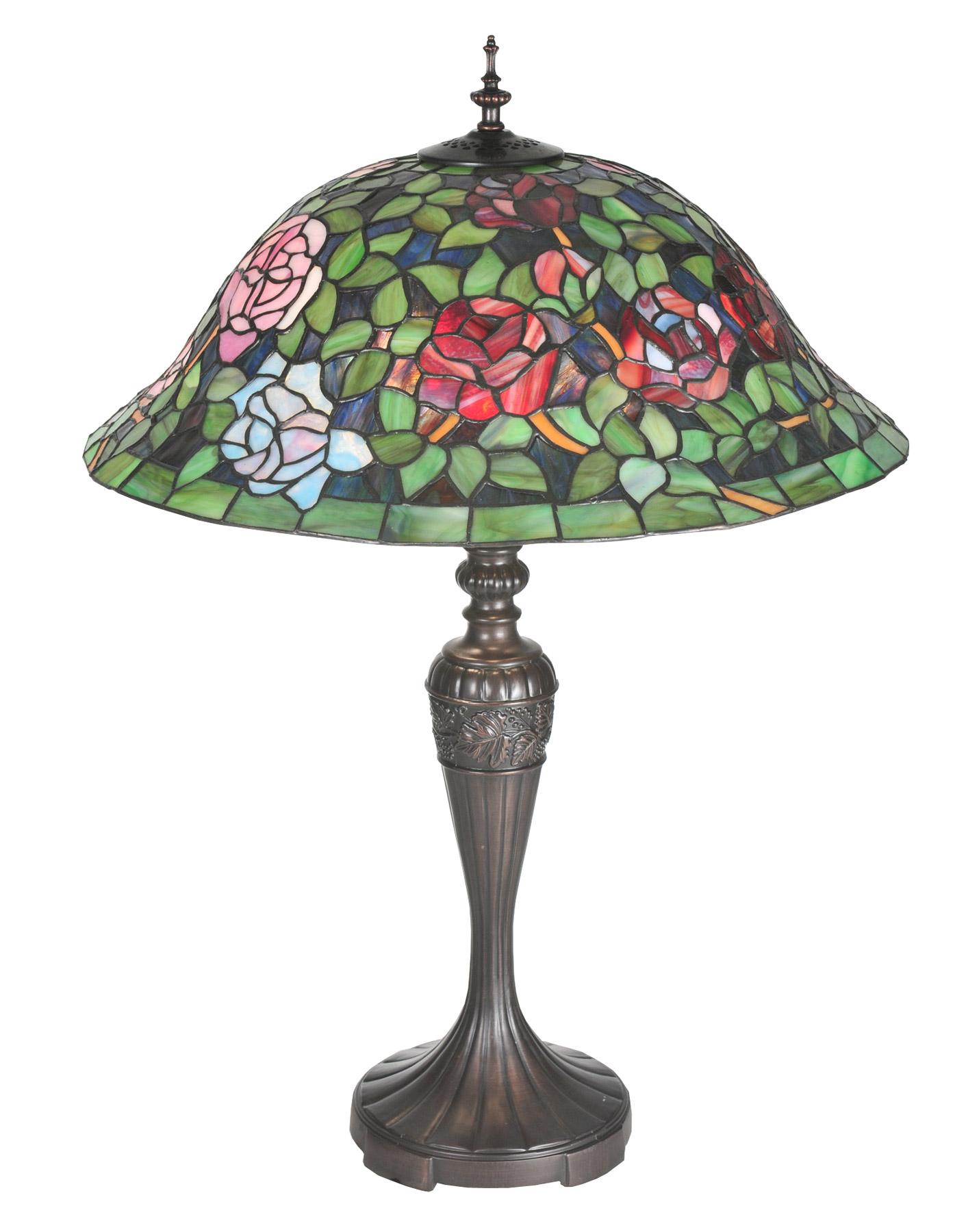 meyda 72443 tiffany rosebush table lamp. Black Bedroom Furniture Sets. Home Design Ideas