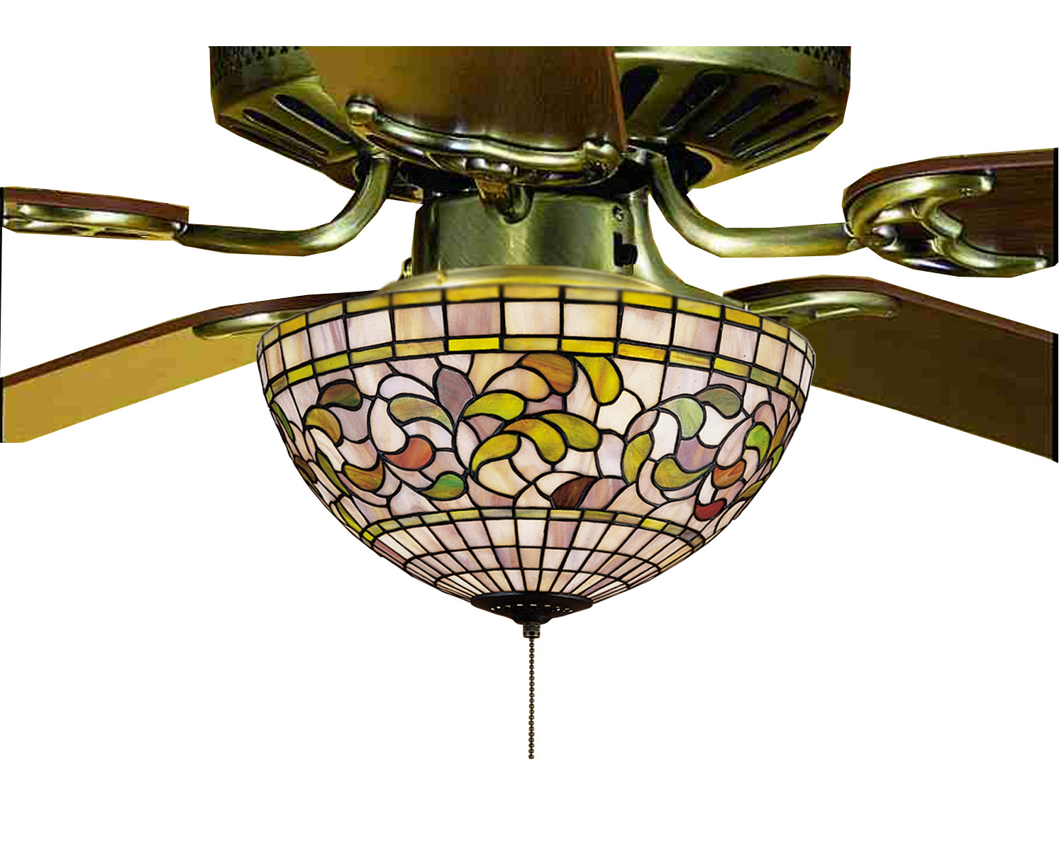 Meyda 72650 Tiffany Turning Leaf Fan Light Fixture