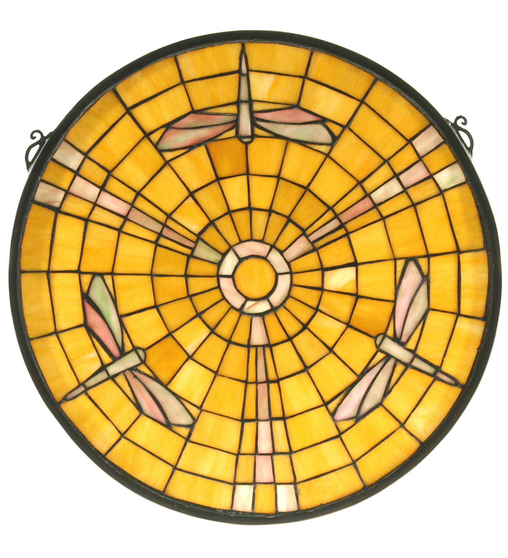 Dragonfly arts and crafts - Meyda 73233 Arts Crafts Dragonfly Stained Glass Window