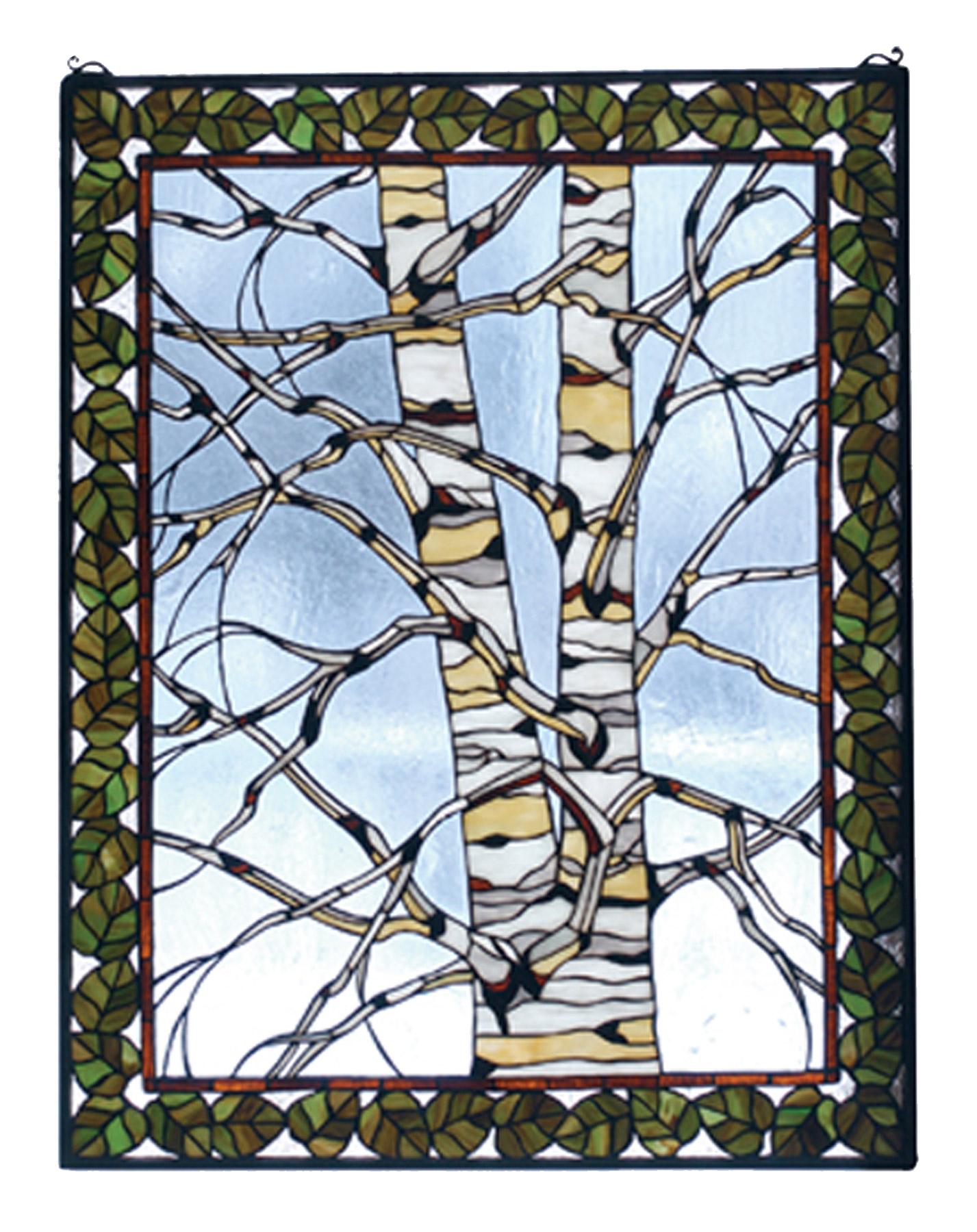 Meyda 73265 Birch Tree Stained Glass Window