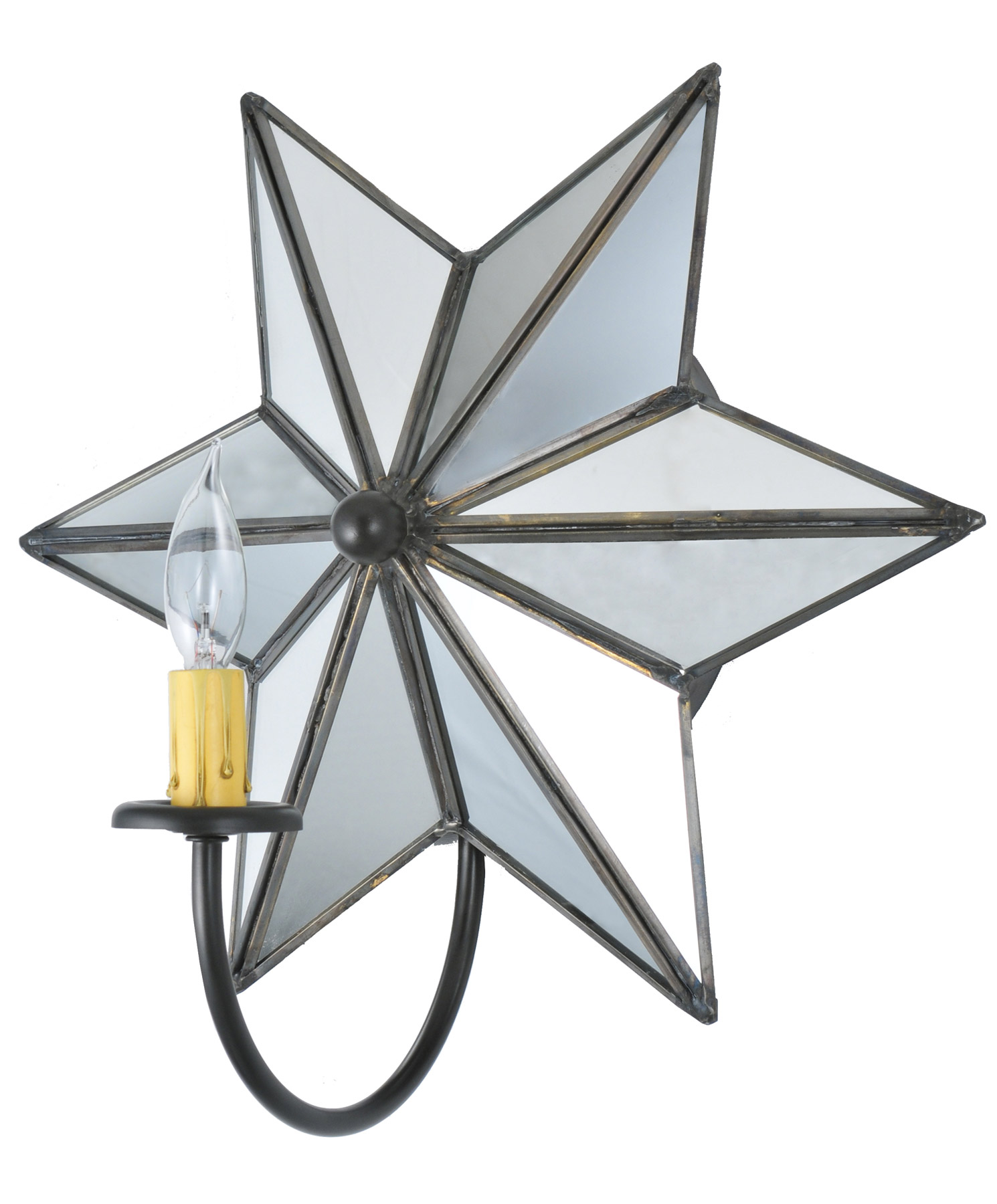 Wall Sconce With Star : Meyda 73448 Mirrored Star Wall Sconce