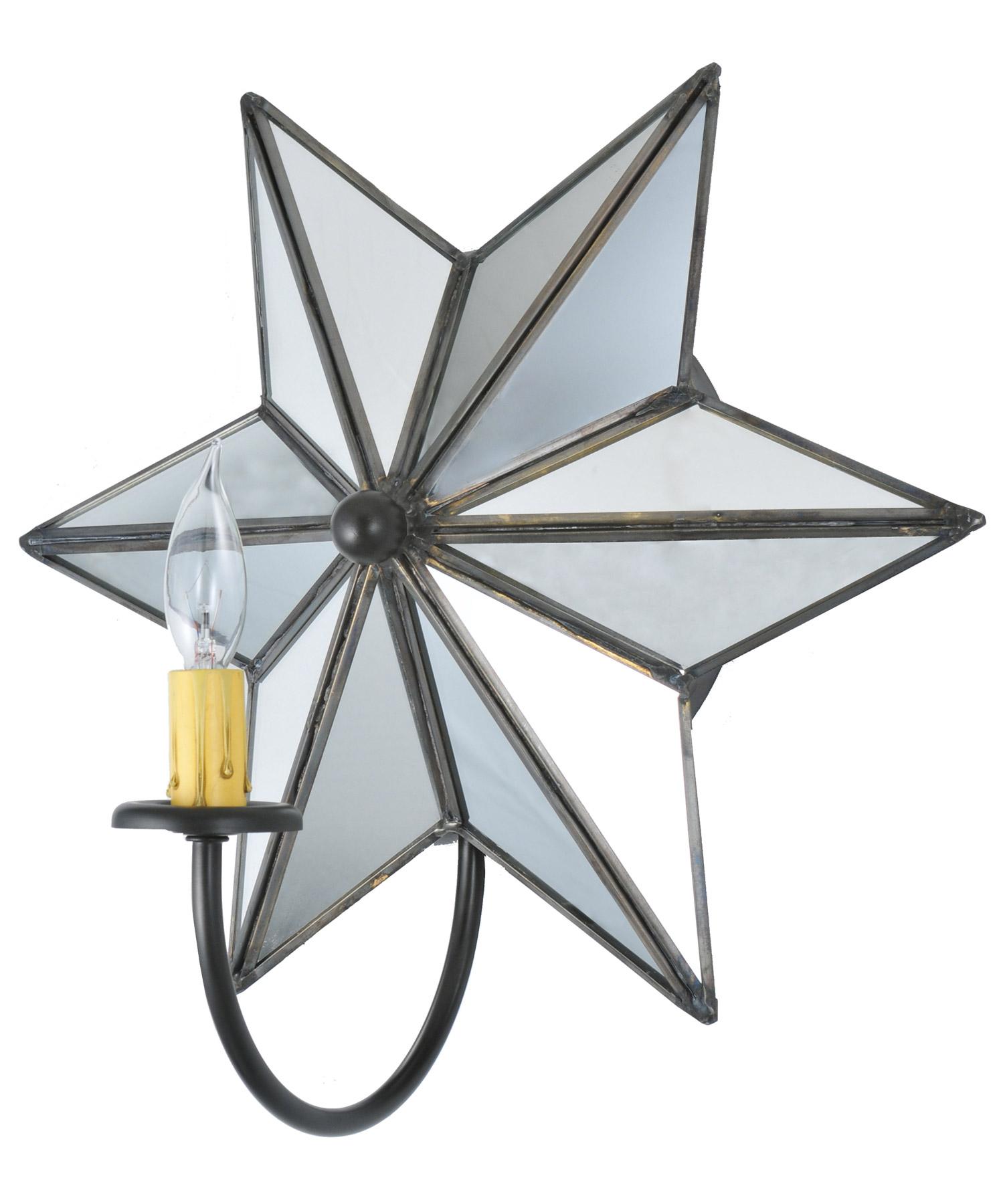 Star Wall Light Bhs : Meyda 73448 Mirrored Star Wall Sconce