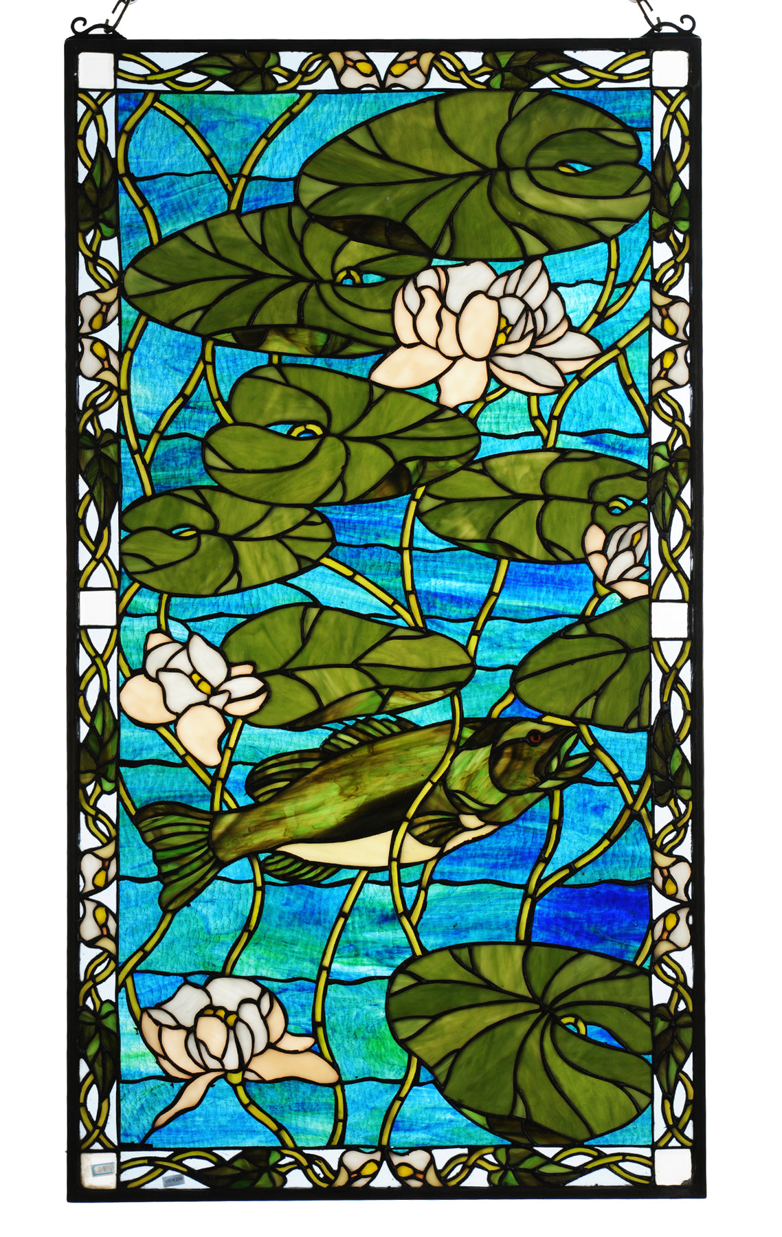 Meyda 73629 Tiffany Bass Amp Water Lilies Stained Glass Window