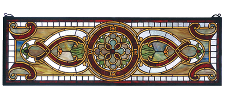 Meyda 77908 Tiffany Transom Evelyn In Topaz Stained Glass