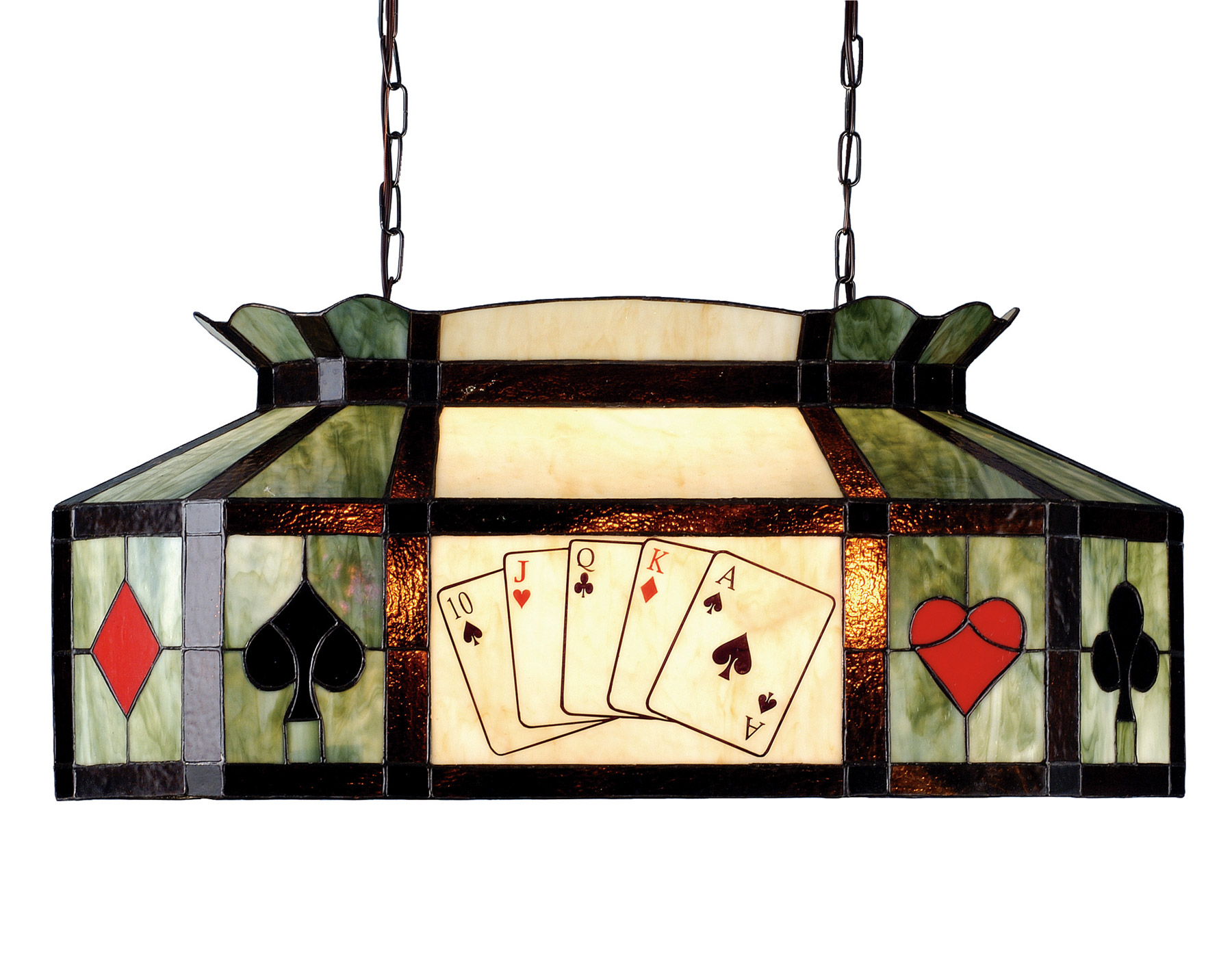 Meyda 81487 Texas Hold Em Poker Oblong Hanging Lamp