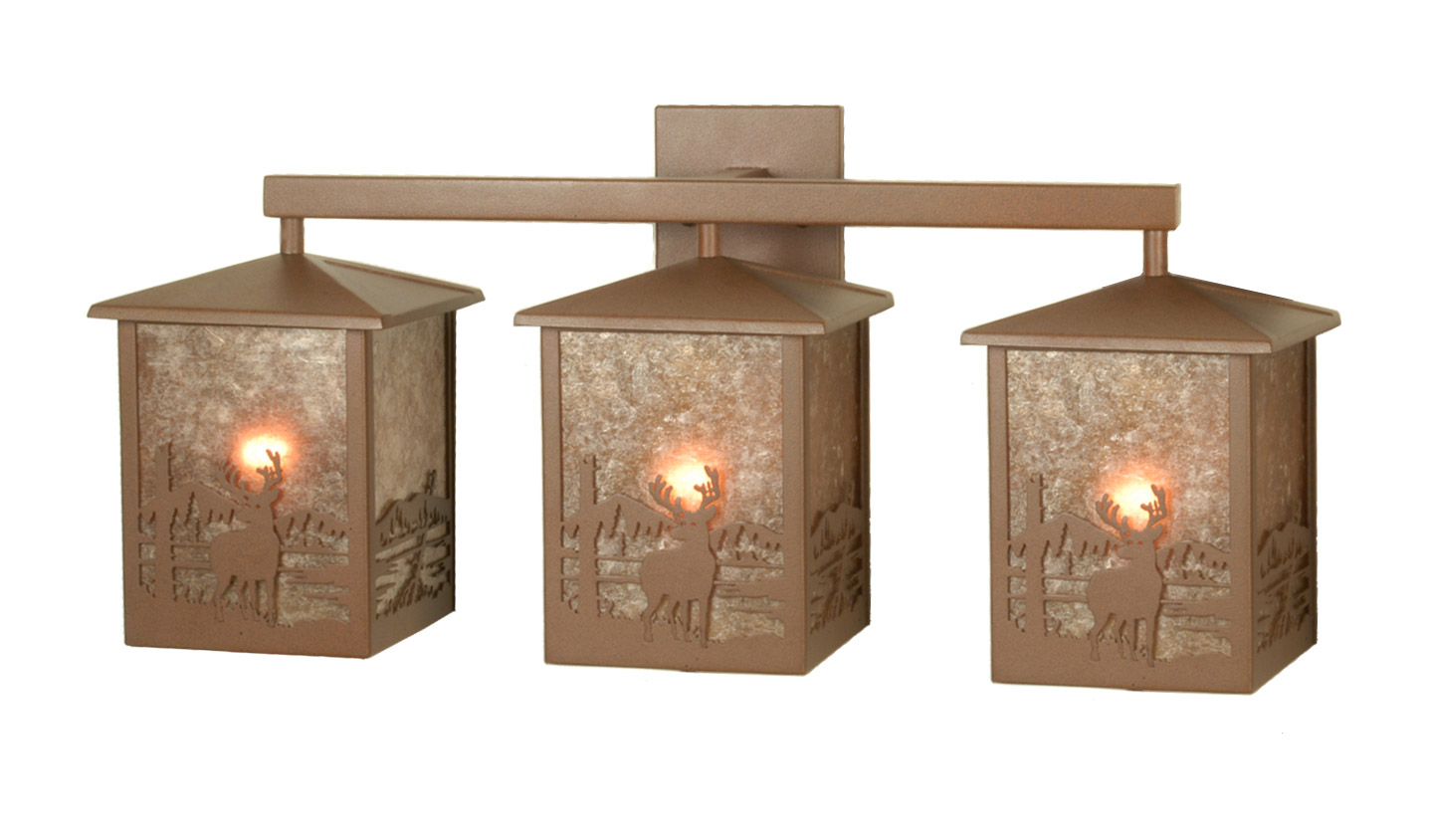 Deer Bathroom Vanity Lights : Meyda 81496 Deer Creek Vanity Light