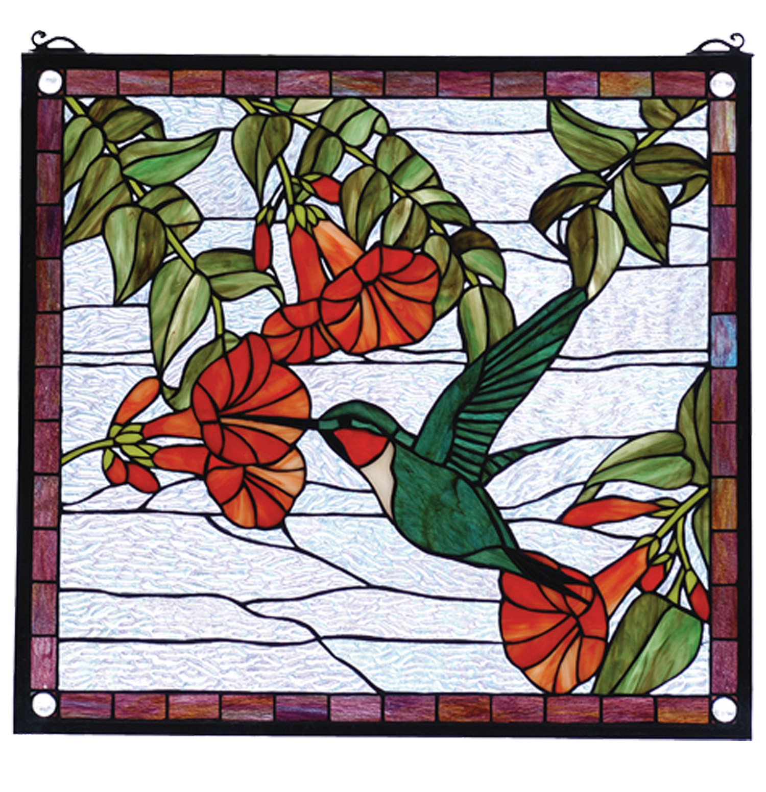 Meyda 81540 Tiffany Hummingbird Stained Glass Window