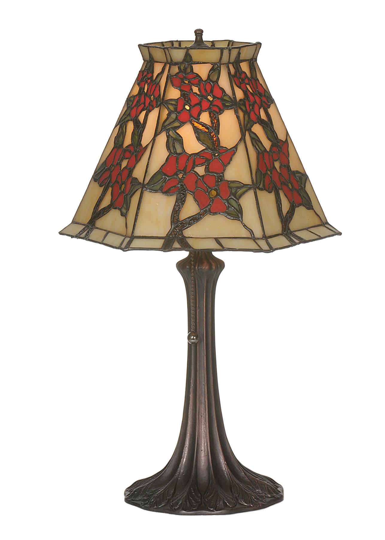 Meyda 81620 Tiffany Oriental Peony Accent Lamp
