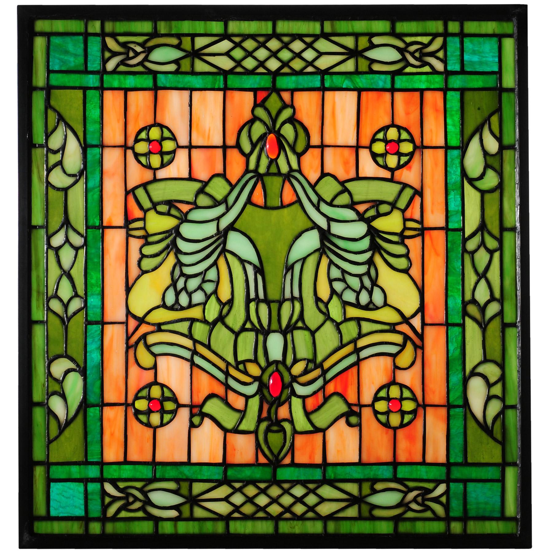 Tiffany Stained Glass : Meyda tiffany florish stained glass window