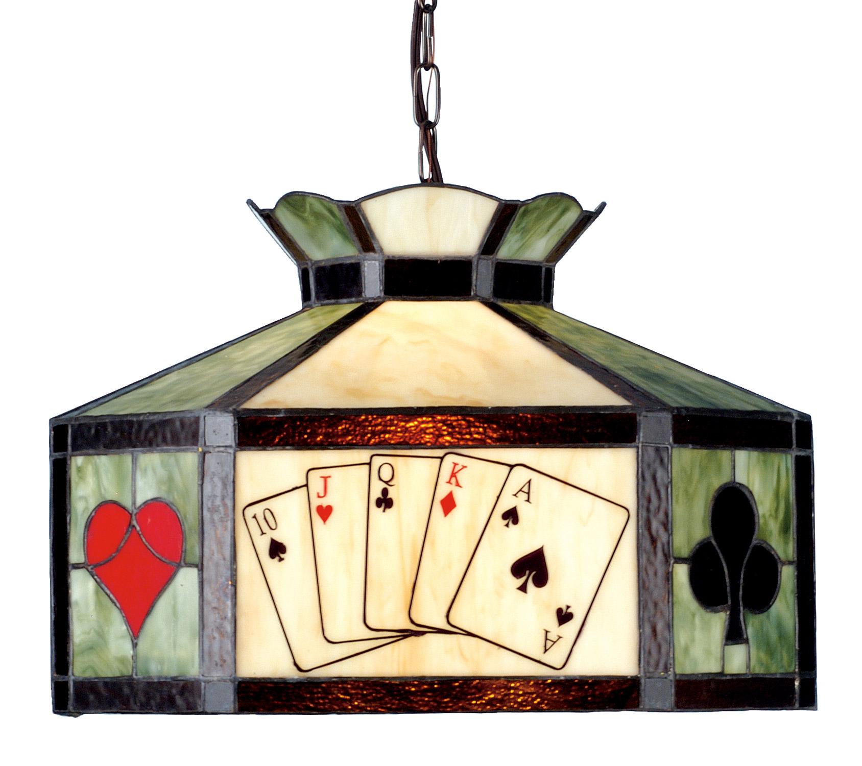 Poker Table Lighting Fixtures: Meyda 82015 Texas Hold'Em Poker Hanging Lamp