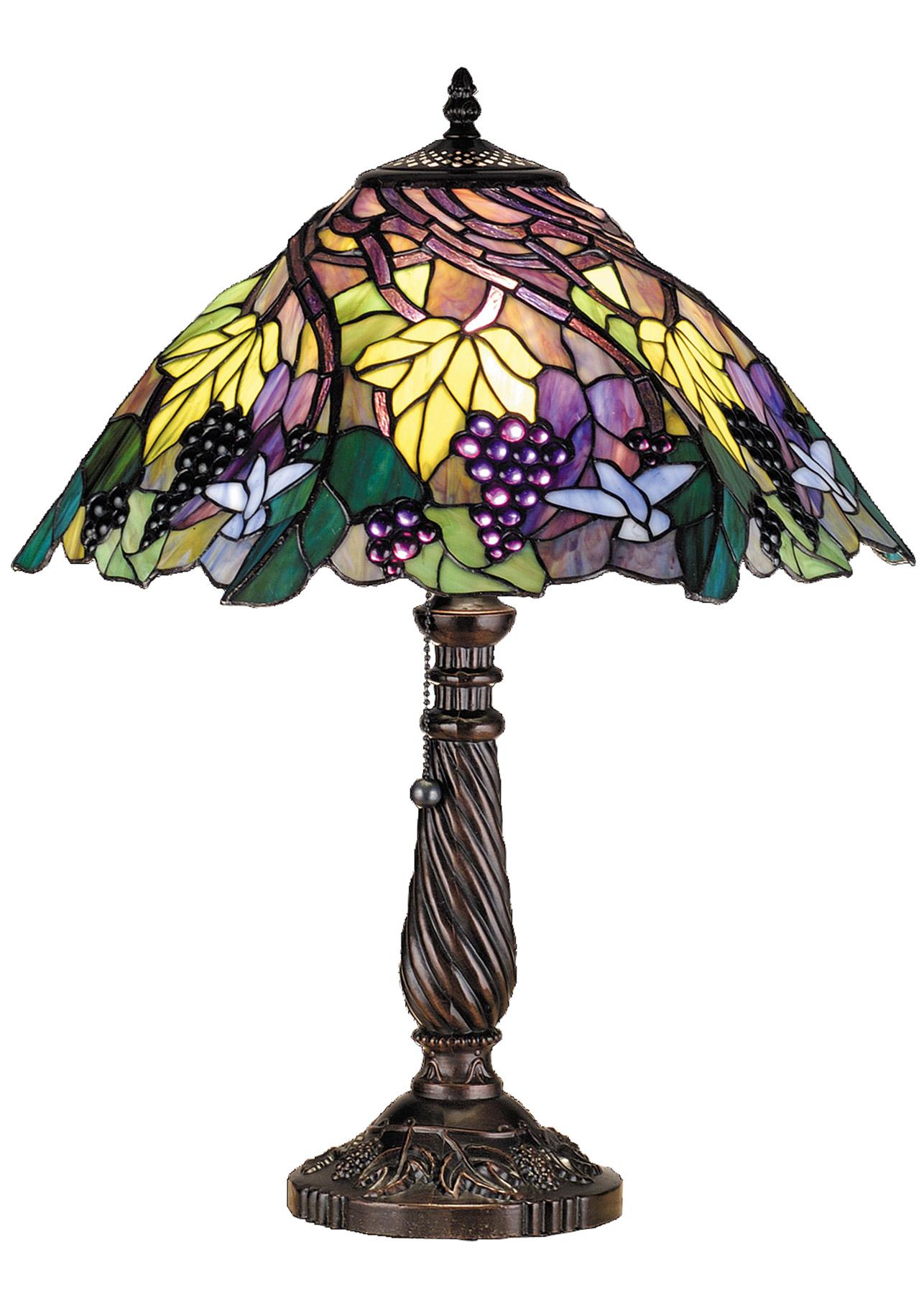 Meyda 82303 Tiffany Spiral Grape Table Lamp