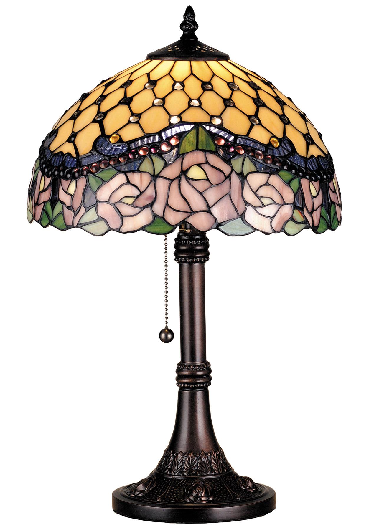 Meyda 82304 Tiffany Jeweled Rose Accent Lamp
