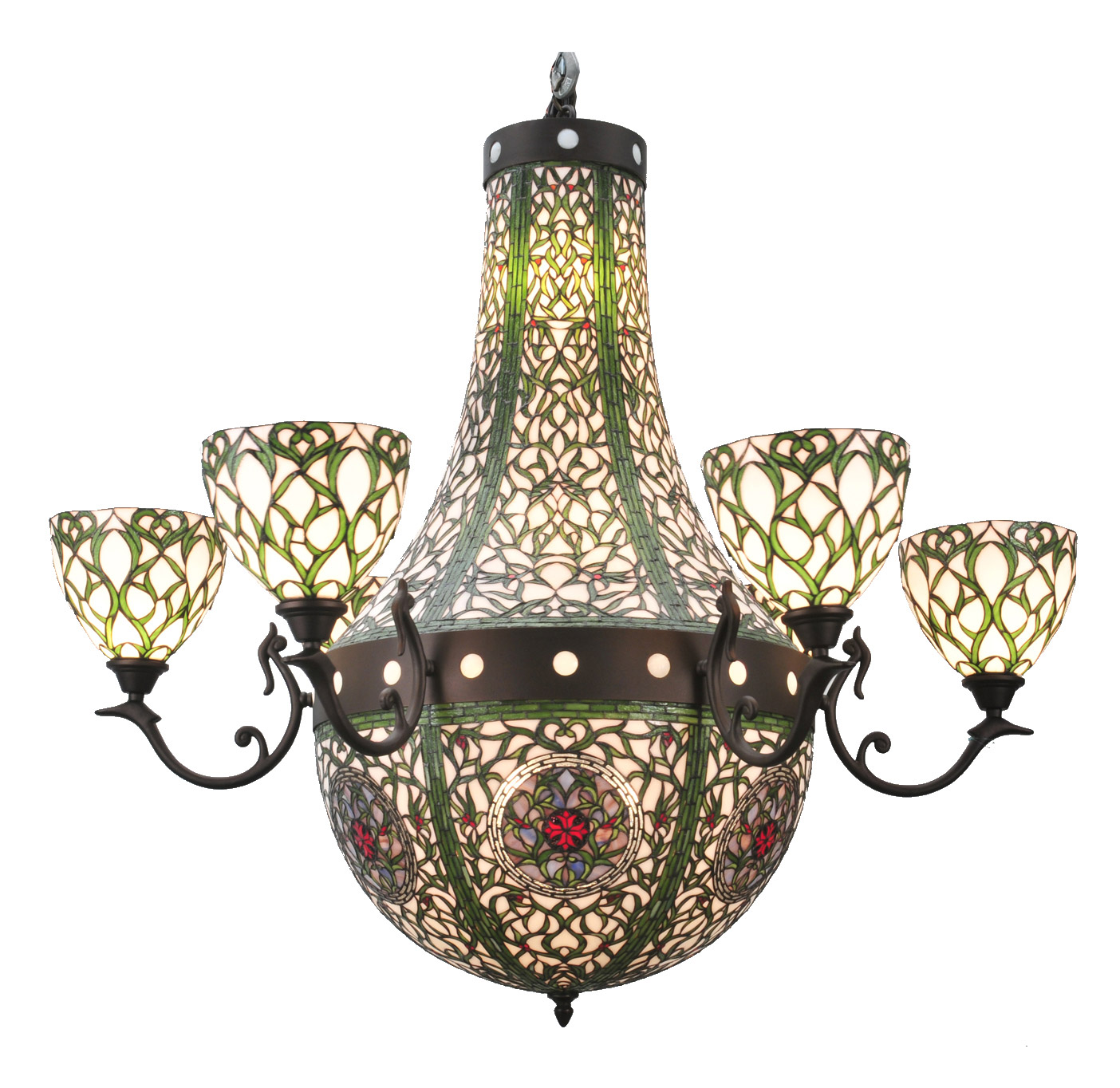 Meyda 98050 tiffany grand tulip medallion fourteen light chandelier aloadofball Image collections
