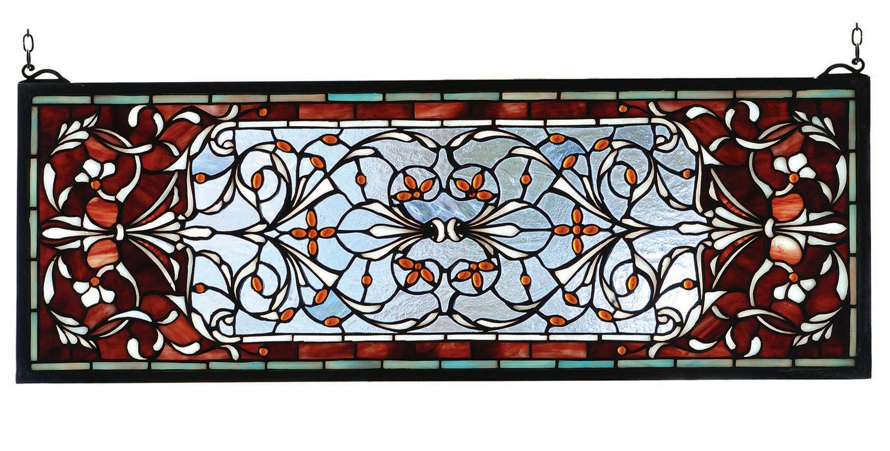 Meyda 98059 Tiffany Versaille Transom Stained Glass Window