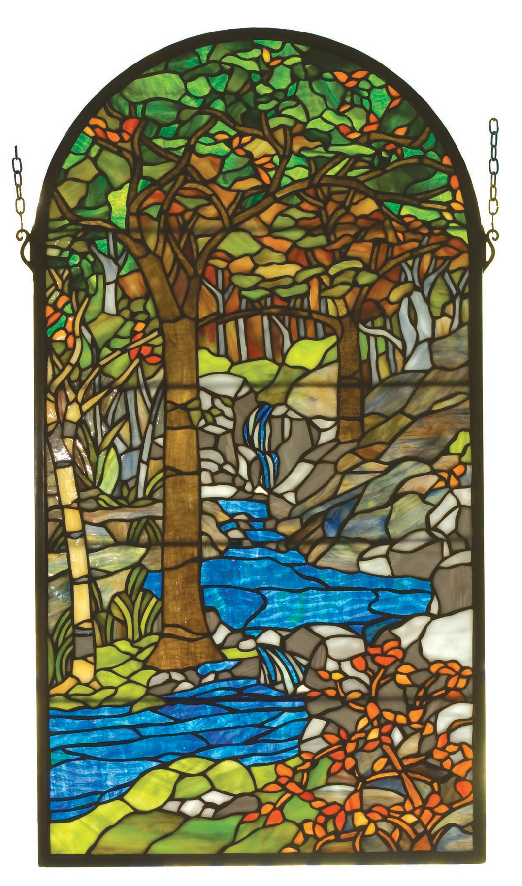 Stained Glass Windows : Meyda tiffany waterbrooks stained glass window