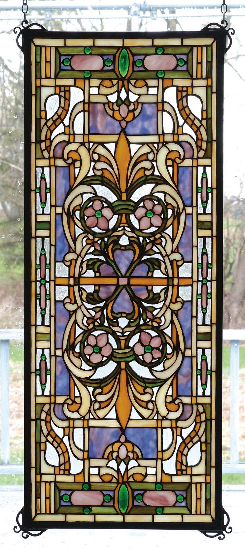 Meyda 98265 Tiffany Estate Floral Stained Glass Window